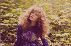 Sublime Forest Editorials - Oxana Zubko Sports Bohemian Fashions for FT How to Spend It