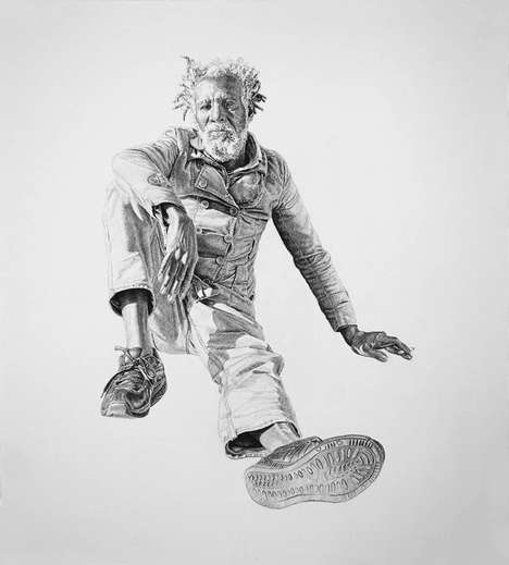 Poignant Graphite Portraits - Joel Daniel Phillips Creates Realistic Illustrations of the Homeless