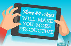 Productive App Guides - This Infographic Lists the Pros and Cons of Productivity-Enhancing Apps