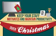 Holiday Productivity Tips - This Infographic Helps Managers Maintain Staff Motivation This Season