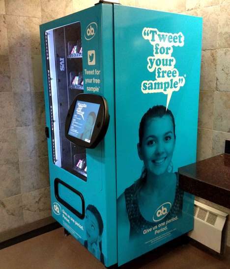 Tampon Vending Machines - O.B. is Appealing to Potential New Customers Candidly