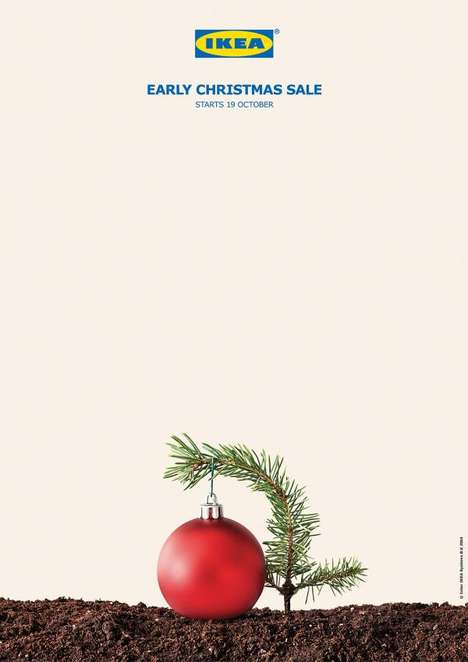 Premature Holiday Ads - These IKEA Ads Humorously Announce an Early Christmas Sale