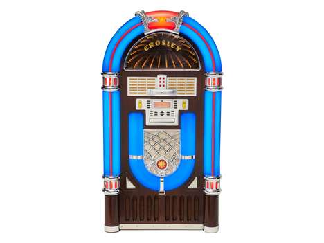 Retro-Modern Music Players - Crosley's IJuke Deluxe Jukebox is a Modern Jukebox for Nostalgia Fans