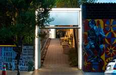 Converted Garage Galleries - The Blau Projects Gallery by ARKIZ is a Revamped Industrial Space
