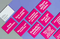 Vibrant Business Cards - These Moo Business Cards Feature Bold James Victore Aphorisms