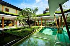 Watery Courtyard Residences - This Contemporary Estate Features a Water Court