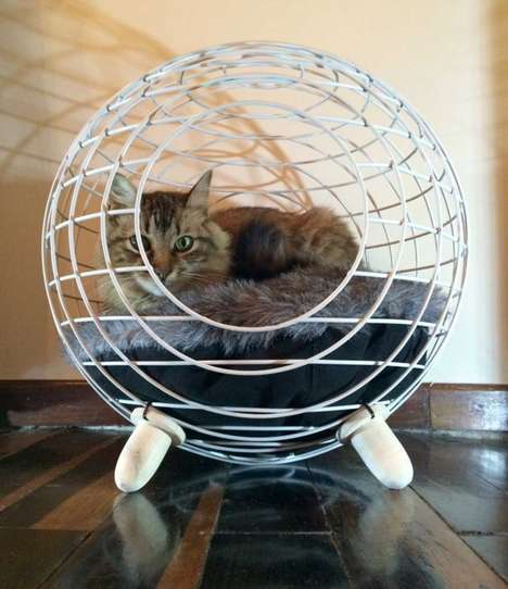 Contemporary Cat Beds - Lord Paw Designs Chic and Spherical Furniture for Feline Friends