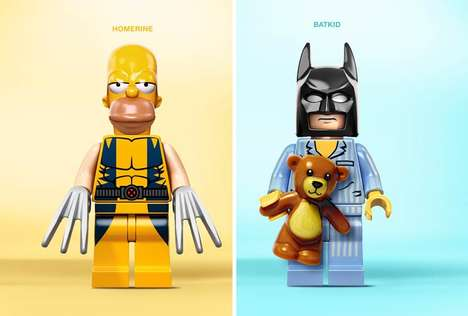 Character-Combining Lego Mashups - Alexander Tissier's Lego Mashup Series Fuses Pop Culture Icons