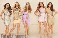 Movie Anniversary Editorials - Entertainment Weekly Orchestrates a Stylish Mean Girls Reunion