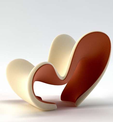 Dramatically Curvaceous Seating - The M Lounge Chair by Velichko is Sculptural and Contemporary