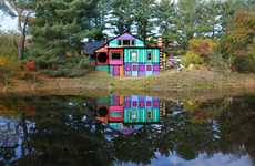 Psychedelic Artist Retreats - House That Sweaters Built by Kat O'Sullivan is a Crazy, Colorful Home