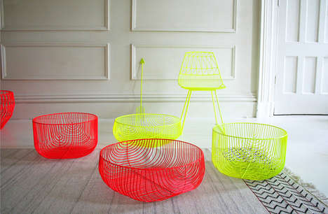 Vibrant Wire Furniture - Design Studio Bend Creates Colorful Pieces Perfect for Modern Homes