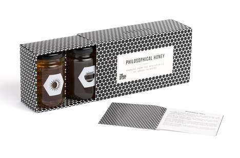 Philosophical Honey Sets - The School of Life's Honey Packaging Box Sources Inspiration from Greece