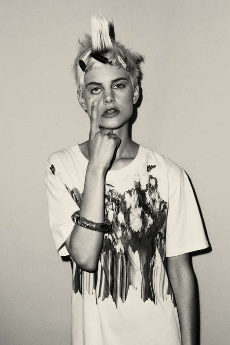 Restless Punk Editorials - Gavriel Maynard Photographed This Punky Editorial for C-Heads