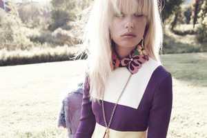 Frida Aasen Stars in the Elle US December Issue