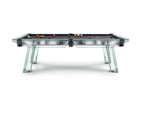 Floating Glass Pool Tables