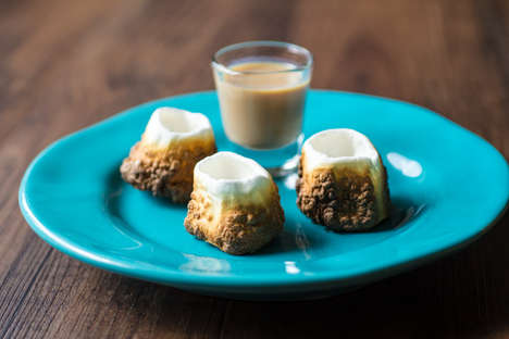Toasted Edible Shooters - The Watering Mouth Explains How to Make a Marshmallow Shot Glass