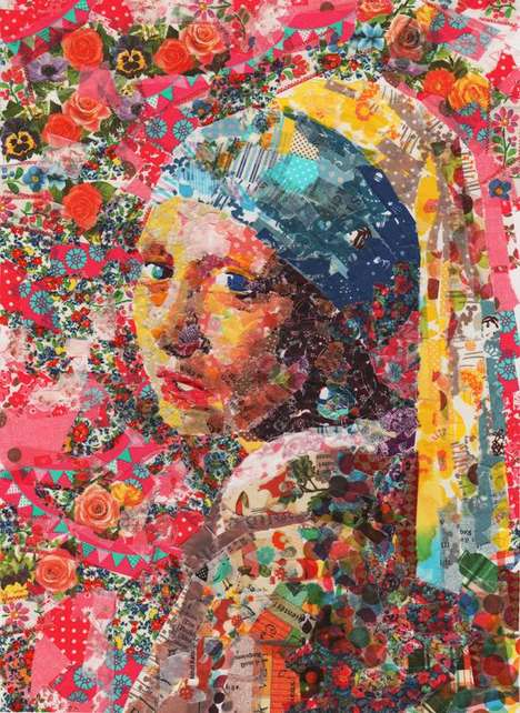 Iconic Masking Tape Masterpieces - Nasa Funahara Recreates Iconic Paintings Using Colored Tape