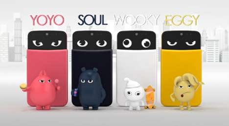 Colorful Cartoony Phones - LG AKA Smartphones Come with Colorful Personalities