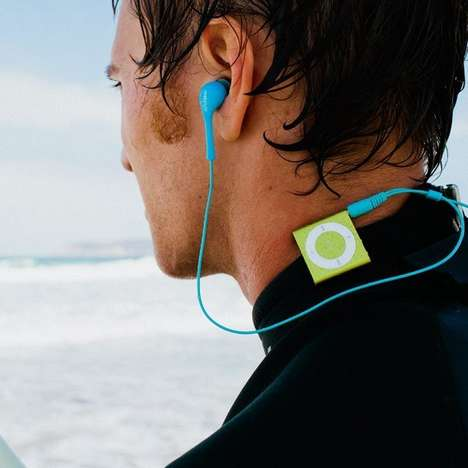 Powerful Waterproof Headphones - The Waterfi Short Cord Headphones Can Be Submerged Up to Ten Feet