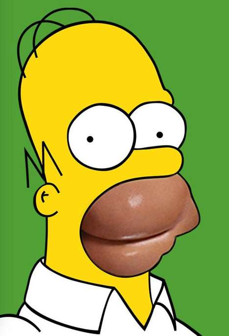 Superimposed Butt Cartoons - The Homer Kimpson Meme Blends Pop Culture Imagery