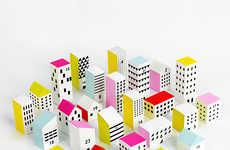 Urban Advent Calendars - This DIY Paper Advent Calendar Kit Takes the Shape of a Vibrant City