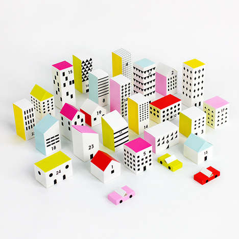 Urban Advent Calendars - This DIY Paper Advent Calendar Kit Takes the Shape of a Vibrant City