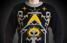 The Alien Nativity Ugly Christmas Sweater is Fun and Offensive