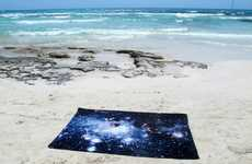 Galactic Beach Blankets - Schönstaub's Nebula Carpet and Towel Collection is Sky-Themed