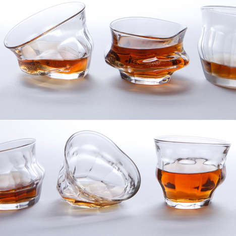 Distorted Drinking Ware - These Tipsy Melting Glasses Add a Post-Modern Touch to the Kitchen