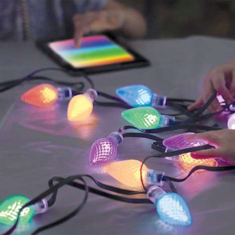 App-Enabled Holiday Lights - Lumenplay Lights Can be Customized with 16 Million Colors