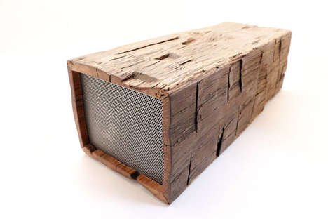 Reclaimed Wooden Boomboxes - This Wood Speaker Fuses Modern Audio Technology with Old Materials