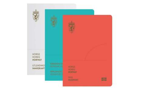 Contemporary Norwegian Passports - Norway Introduces a Gorgeous Redesign of Their Travel Documents