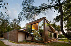 Mirrored Forested Cabins