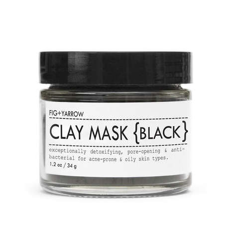Charcoal-Based Beauty Products - The Fig + Yarrow Black Clay Mask Incorporates Atypical Ingredients