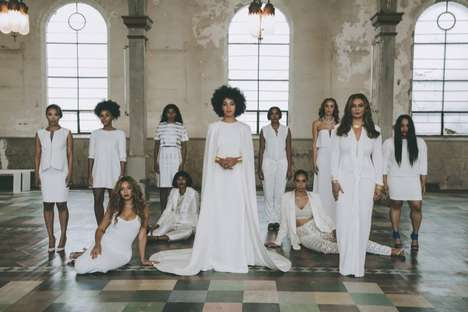 Caped Bridal Gowns - The Solange Wedding Dress is Fierce and Fashionable