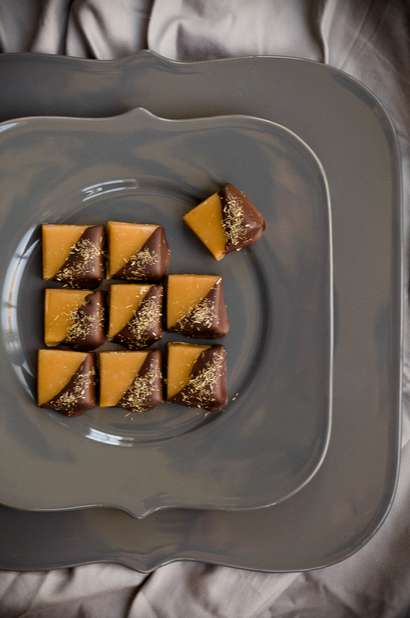 Thai Chocolate Caramels - This Unique Caramel Recipe Features Lemongrass, Fish Sauce and Limes