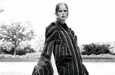 Avant-Garde Outerwear Editorials - Interview Magazine's New Down Story Features Warm Winter Fashions