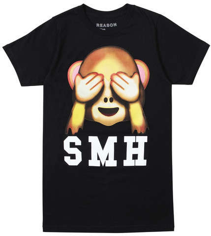 Hilarious Emoji Tees - The SMH T-Shirt Features the See No Evil Monkey Emoji