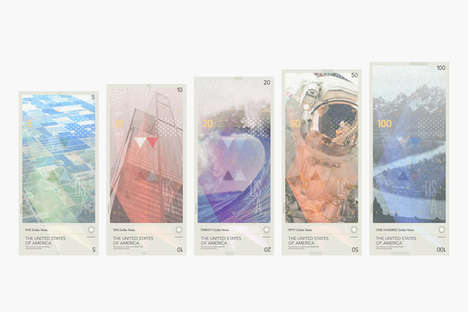 Modernized Banknote Currency - This Redesigned American Money Series is Creates by Travis Purrington