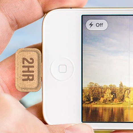Disposable Smartphone Batteries - Mini Power by Tsung Chih-Hsien is an Emergency Energy Source