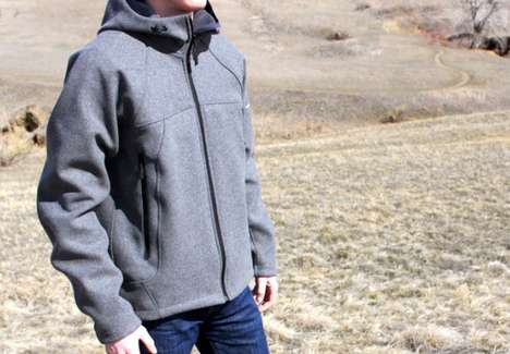 Wool Shell Outerwear - The Westcomb Skeena Wool Hoody is Velour-Lined and Light-Weight
