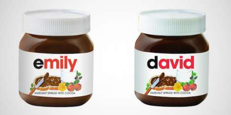 Personalized Spread Packaging - At Selfridges You Can Get Your Name Written on Nutella Jars