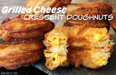 Cheesy Crescent Pastries - This Grilled Cheese Donut From Oh Bite It Boasts Layers of Deliciousness
