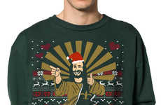 Blasphemous Christmas Sweaters - This Jesus Sweater Will Dominate Ugly Sweater Parties Everywhere