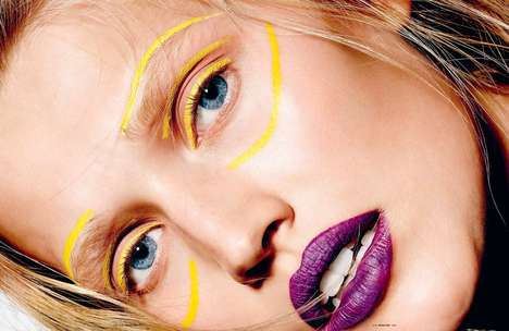 Face Painted Beauty Closeups - This i-D Magazine Shoot Highlights the Season's Hottest Cosmetic Hues