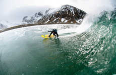Winter Surf Photography - Chris Burkard Epically Captures an Extreme Cold Sport