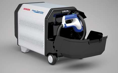 Futuristic Fuel Cell Vehicles - The Honda FCV Can Supply Power To External Devices