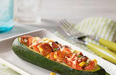 Spicy Stuffed Zucchini - This Vegetarian Black Bean Burger Recipe is From MorningStar Farms