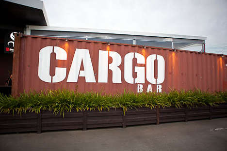 Temporary Shipping Container Bars - This Pop Up Bar is Made Using Discarded Cargo Carriers
